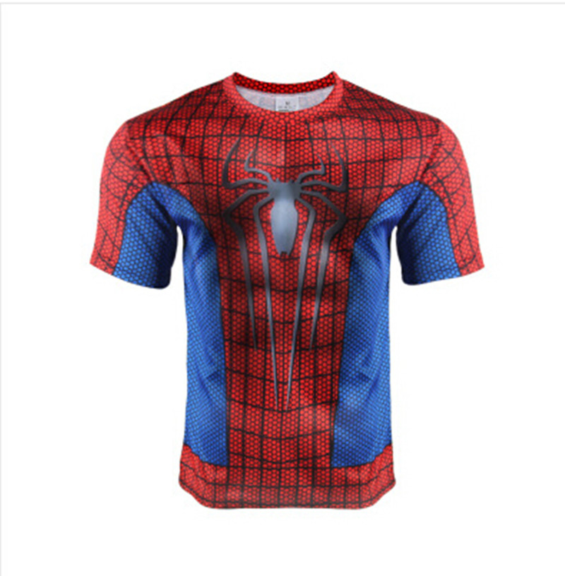 2016 New Style Men Steel Beast Compression Shirt Spiderman Gym T-shirt Fit Tight Shirts Sports T-shirt(China (Mainland))