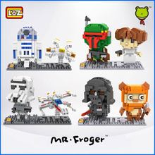 Mr.Froger LOZ Star Wars R2D2 Imperial Stormtrooper Yoda  mini blocks Small particles building block DIY toy brick gifts series