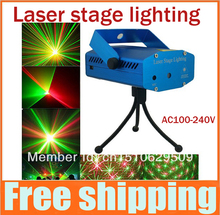 80% discounts 2pcs Mini Projector DJ Disco Light Stage Xmas Party Laser Lighting Show Laser Stage Light Projector, Free Shipping(China (Mainland))