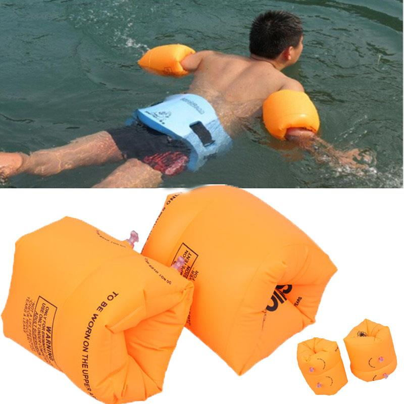 1 Pair PVC Lovely Inflatable Swim Rollup Arm Bands Rings Floats for Kids Swimming Water High Quality(China (Mainland))