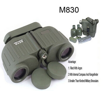 All-optical HD Waterproof 8X30 Military Binoculars Telescope With Range Finder For Hunting Filled With Nitrogen Free Shipping(China (Mainland))