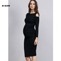 HI Bloom New Maternity Clothes Fashion Pregnancy Clothes For Pregnant Women Knee Length Maternity Dresses Plus
