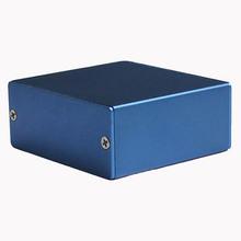 Алюминиевый корпус передатчик чехол оболочки электрическая коробка синий customzied DIY 50 * 58 * 24 мм новый