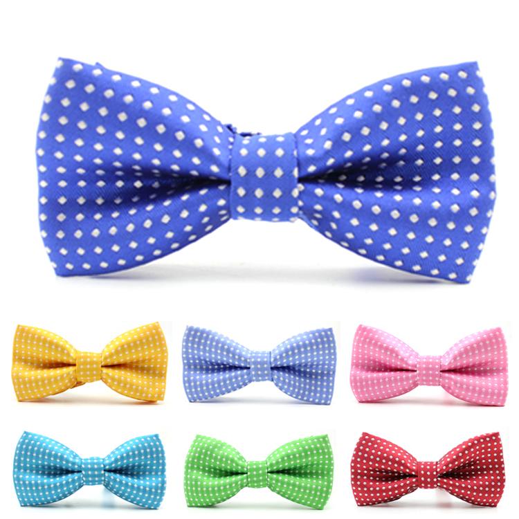 1 piece Hot Sale casual kids collar bow tie polka dot design noble tie boy bowtie in Children's accessories(China (Mainland))