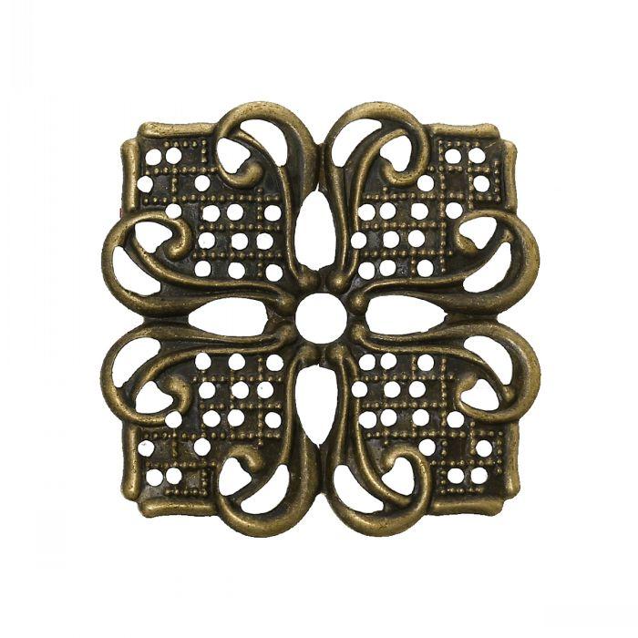 Embellishments Findings Filigree Wraps Connectors Square Antique Bronze Flower Pattern 3.5cmx 3.5cm,100 PCs  )<br><br>Aliexpress