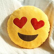 Nuovo 2015 hot 20 stili morbidi emoji smiley emoticon giallo rotondo cuscino cuscini farcito molle della peluche caldo casa cuscini decorativi(China (Mainland))