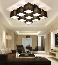 Country style Multi Square shade Ceiling Light dinner room Lamp Sitting Room House Lighting different form lights(China (Mainland))