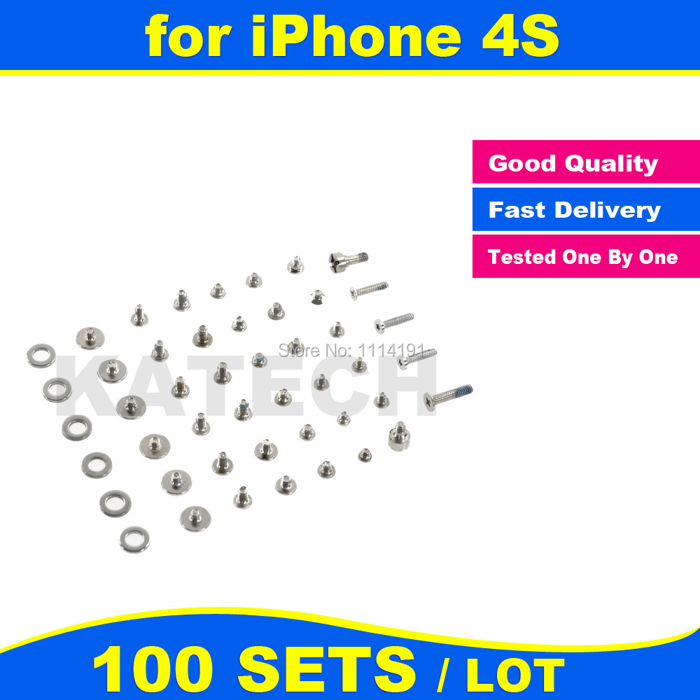 FREE SHIPPING X 100 SET LOT for iPhone 4S Screws Full Set Replacement