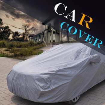 Cawanerl SUV Car Cover Sunshade Outdoor Sun Rain Snow Cover Anti UV Scratch Resistant Dustproof Car Accessories Universal