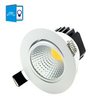 [DBF] Super Bright Recessed LED Dimmable Downlight COB 5W 7W 9W 12W LED Spot light LED decoration Ceiling Lamp AC 110V 220V(China (Mainland))