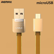 Upscale Double Sided Golden Micro USB Cable For Samsung Galaxy For Blackberry For Android Phone USB Cord Charger Cable