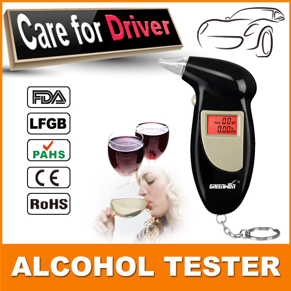 Free Shipping, Key Chain Alcohol Tester, Digital Breathalyzer, Alcohol Breath Analyze Tester (0.19% BAC Max) , Wholesale 2pcs(China (Mainland))