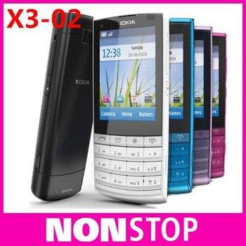 high quality X3-02 Original Nokia X3-02 cell phone 3G Quad-Band WiFi 5MP camera with card slot