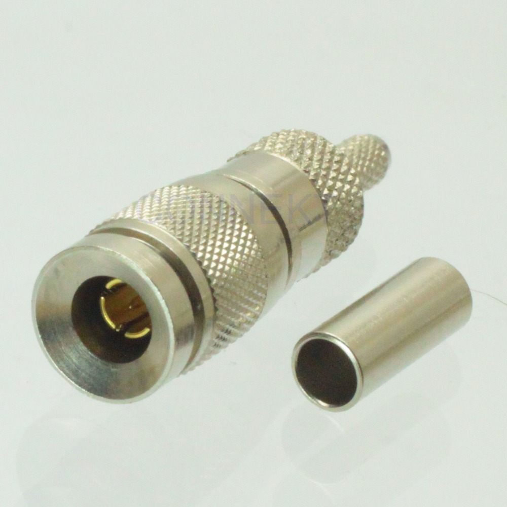 Free shipping 1.0/2.3 male center crimp BT3002 RA7000 TZC75024 cable RF connector 75 ohm(China (Mainland))