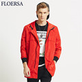 Hooded Jacket Men Long Sleeve 2017 Spring Men Windbreaker Long Coat Fashion Loose Mens Jackets and