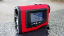 Nueva Golf telémetro binoculares con pantalla LCD 1000 m rango de medición a prueba de agua Laser Range finder ingeniería de calibración