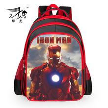 2015 Hot sale new iron man backpack cartoon bags Avengers children boys school bag kids girls grade book bag pupil(China (Mainland))