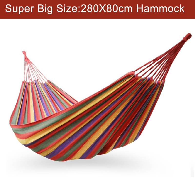 Super big size 280x80cm,Hammock,outdoor hammock,camping hunting leisure goods new hot sale Travel Accessories,outdoor furniture(China (Mainland))