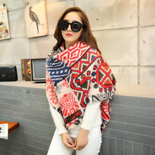 Buy cashmere scarf women za winter plaid blanket scarf women worsted cashmere acrylic wrap shawls female knitted pashmina scarf for $5.81 in AliExpress store