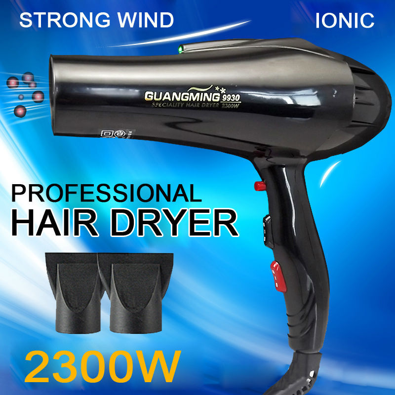 Professional blow Hair Dryer Ion Beauty Health HairCare Styling Tools black Fashion Hot&cold wind 2300W Nano titanium hairdryer(China (Mainland))