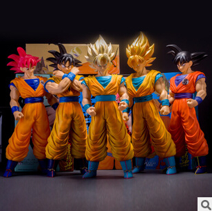 Japan's Animation Dragon Ball Z goku action figure toys PVC Large 40CM Super Saiyan goku high quality classic kids toys gifts(China (Mainland))