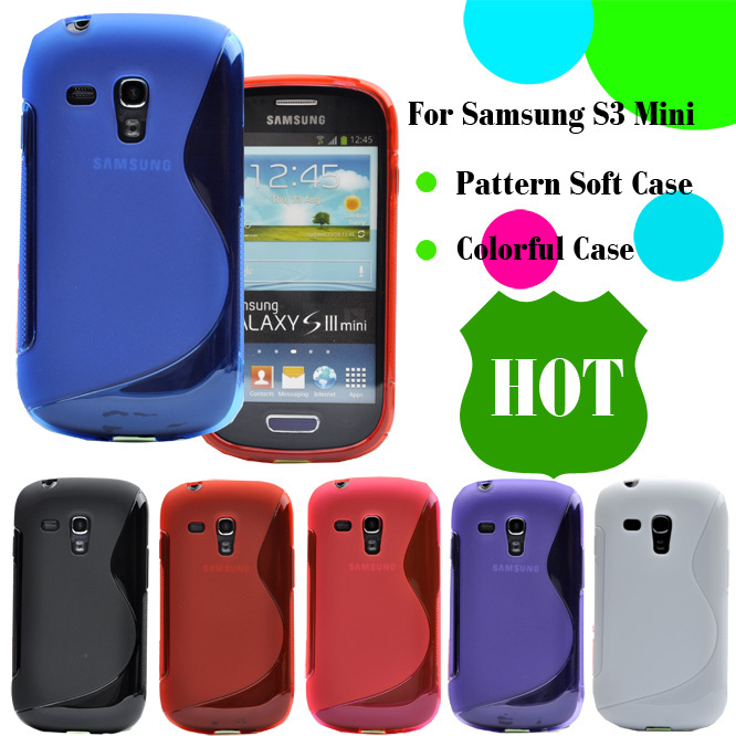 i8190 S Line Anti-skid Soft Silicone TPU GEL Skin Cover For Samsung Galaxy S3 SIII Mini i8190 4inch Mobile Phone Protective Case(China (Mainland))