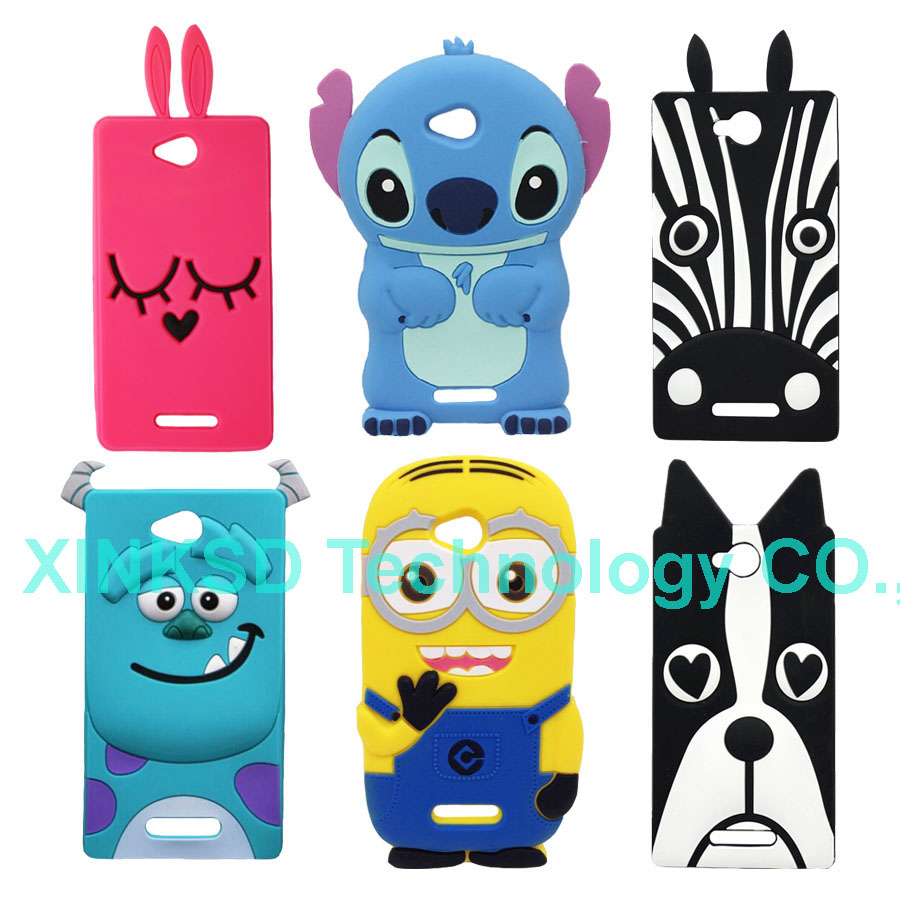New Cute Cartoon Soft Silicone Case For Sony Xperia C S39h C2305 C2304 Minion Sulley Pink Rabbit Zebra Stitch Phone Back Cover(China (Mainland))