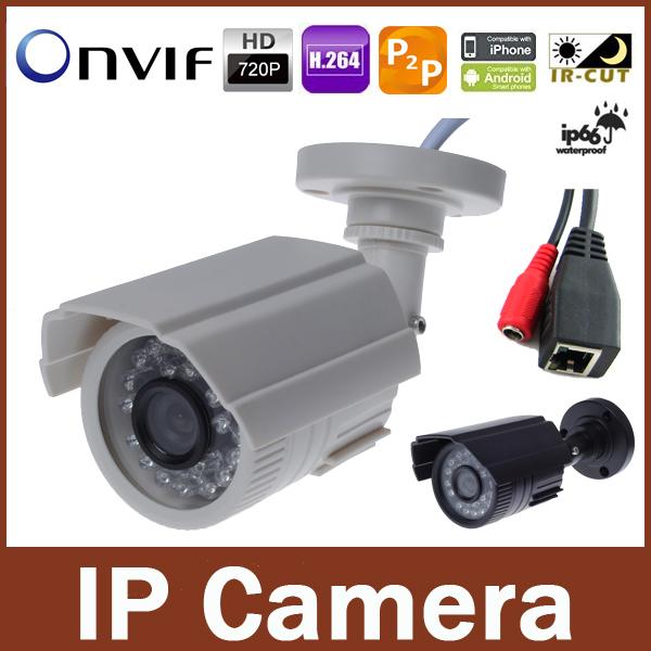 ONVIF 720P IP Camera 3.6mm Lens Outdoor IR Night Vision Network 1.0MP CCTV HD Camera P2P Security & Protection mini ip camera(China (Mainland))