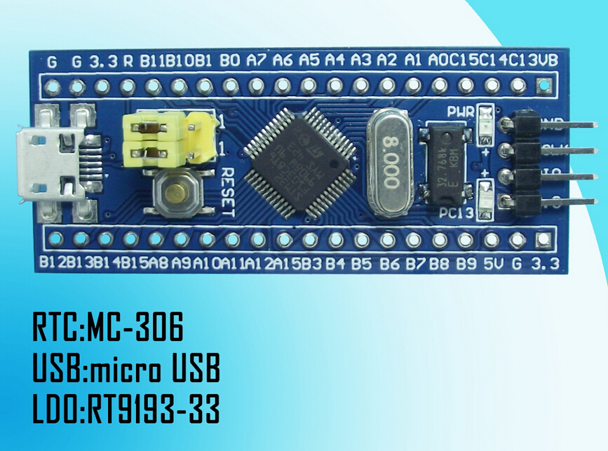 Free shipping! STM32F103C8T6 Minimum system board Core Board STM32 ARM 5PCS(China (Mainland))