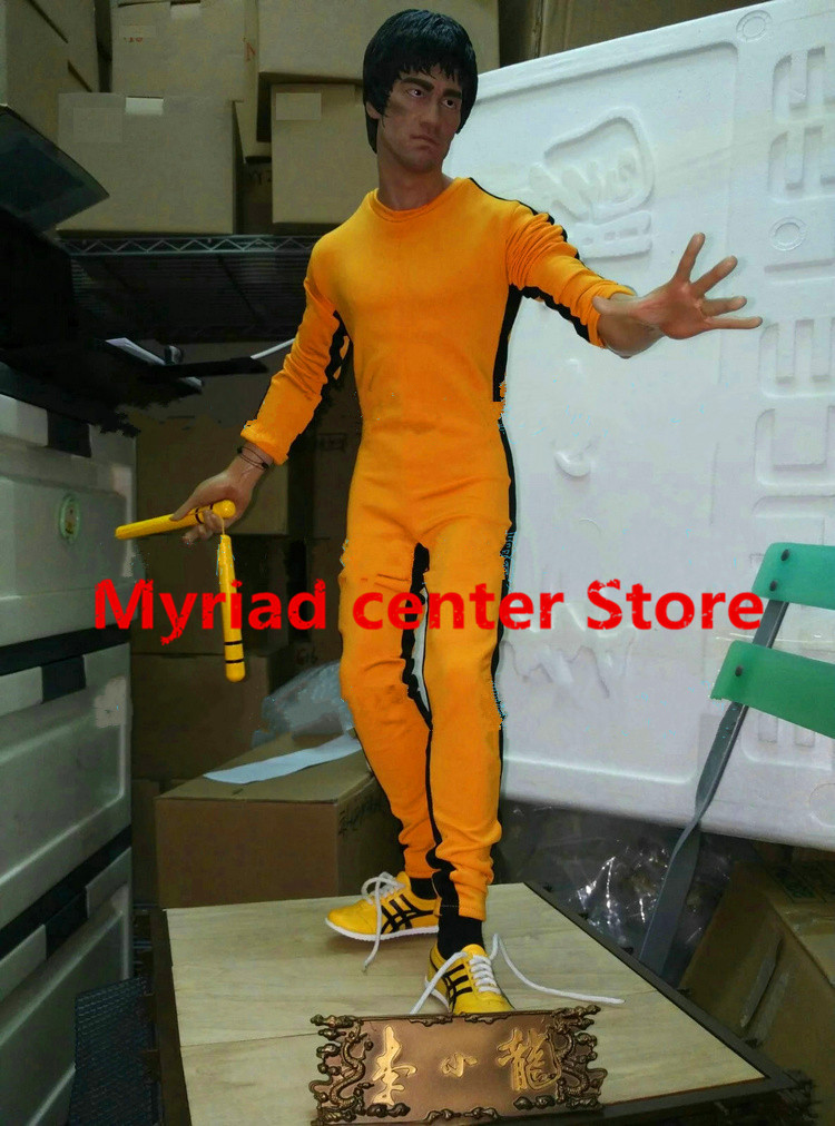 Free Shipping  1/3 Game of Death Bruce Lee Statue 40th Anniversary Tribute Statue EMS