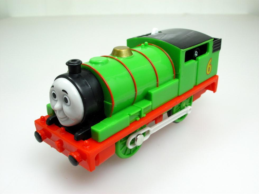 Children gift Electric THOMAS and friend The Tank Engine Motorized train plastic kids toy gift PERCY(China (Mainland))