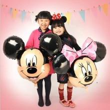free shipping  new 5pcs/lots Mickey Mouse cartoon Mickey Minnie aluminum balloons party balloons wholesale children's toys(China (Mainland))
