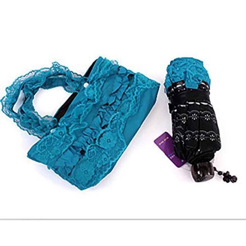 Принцесса УФ Мини Кружевной Зонтик творческих складной зонтик зонтик винил кружева зонтик зонтики арочные доставка