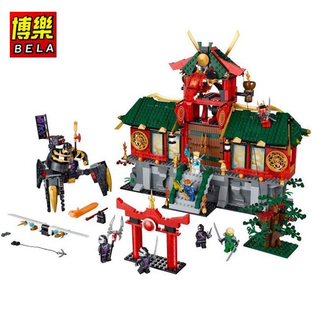 BELA Ninja City Wars Minifigures 122Building Blocks Model Sets Toys Children Ninjagoed Legoelieds