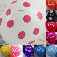 A8 Free Shipping New Fashion 10pcs/lot Party Decoration Polka Dot Latex Balloon T1056 P