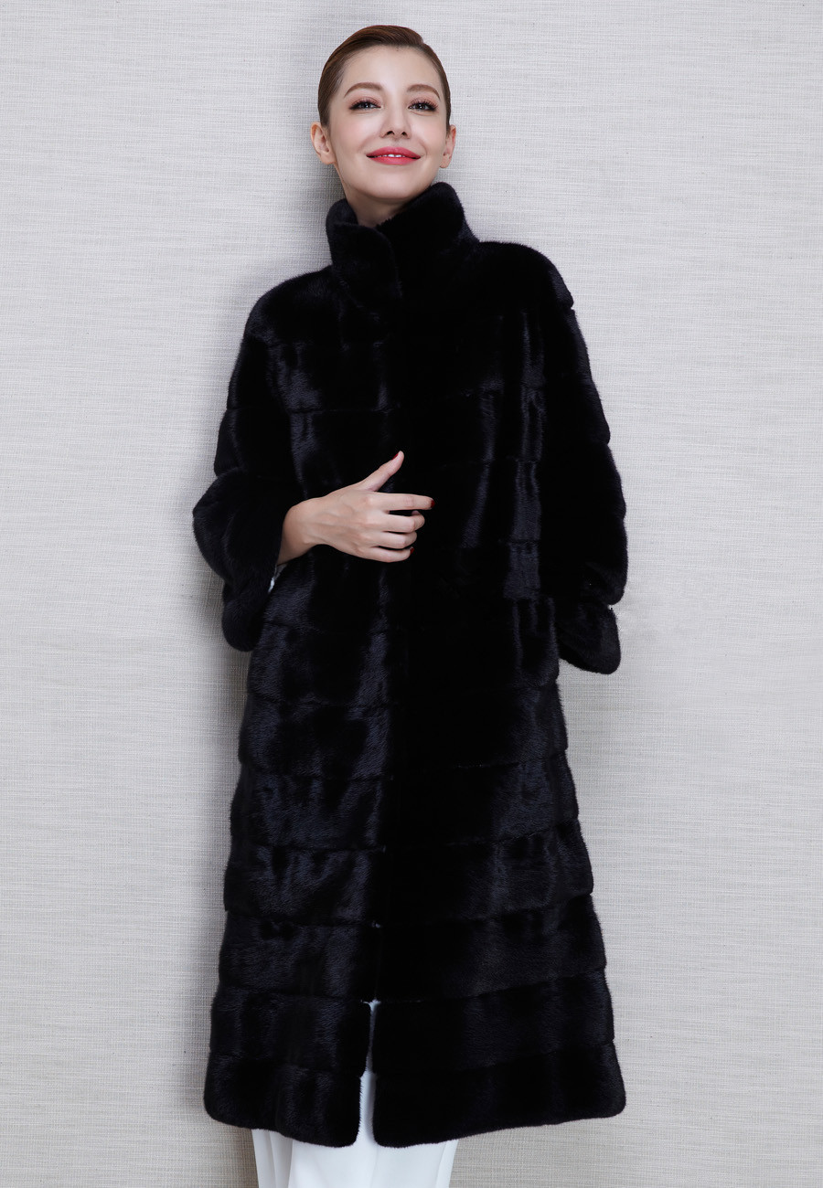 Black X-Long 2015 New Warm Faux Fur Rabbit jacket Coat Winter Overcoat For Women Long design Tops Outerwear Womens ClothingОдежда и ак�е��уары<br><br><br>Aliexpress