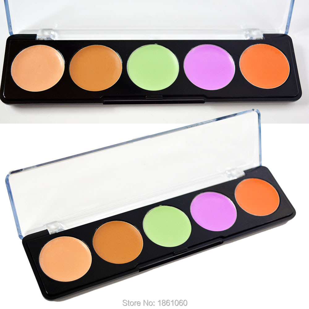Concealer Professional 5 Color Facial Face Cream Care Camouflage Makeup Palettes Cosmetic(China (Mainland))