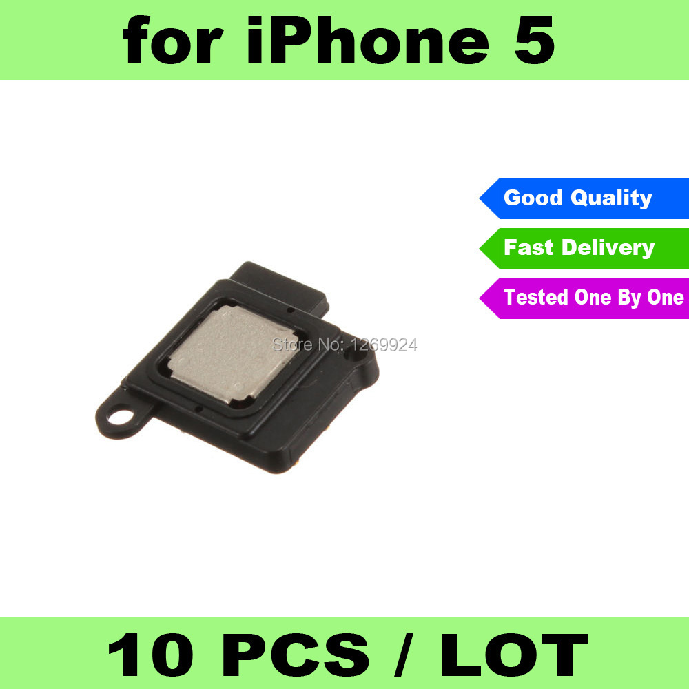 FREE SHIPPING X 10 New Earpiece Ear Piece Speaker Spare Part Replacement for iPhone 5(China (Mainland))