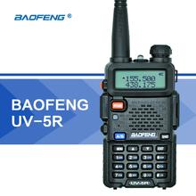 BaoFeng UV-5R Walkie Talkie UHF VHF Dual Band UV5R CB Radio 128CH VOX Flashlight Dual Display FM Transceiver for Hunting Radio(Hong Kong)