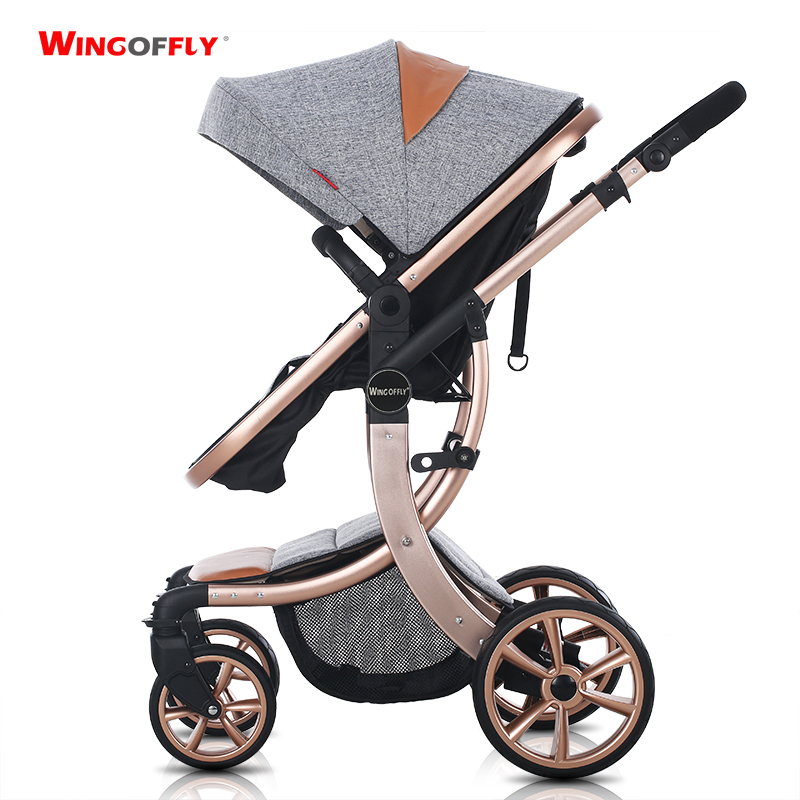 Baby stroller summer landscape light shock can sit down to Russia free shipping(China (Mainland))
