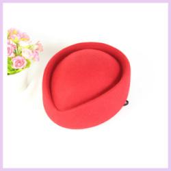 Free Shipping 20pcs/lot Hot Sale Wool Ladies Wool Stewardess Hat Fedoras Cap(China (Mainland))