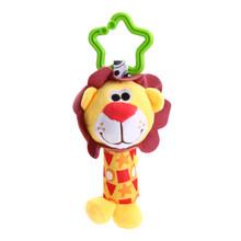 Bebê Meninos Recém-nascidos Meninas Infantil Bonito Macio Boneca Animal Handbells Sineta Baby Bells Brinquedos de Desenvolvimento(China)