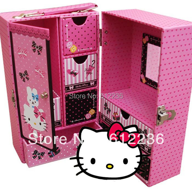 Hello Kitty Storage boxes jewelry boxes exquisite make up box gift box  beautiful gift for girls students hot sale gift items