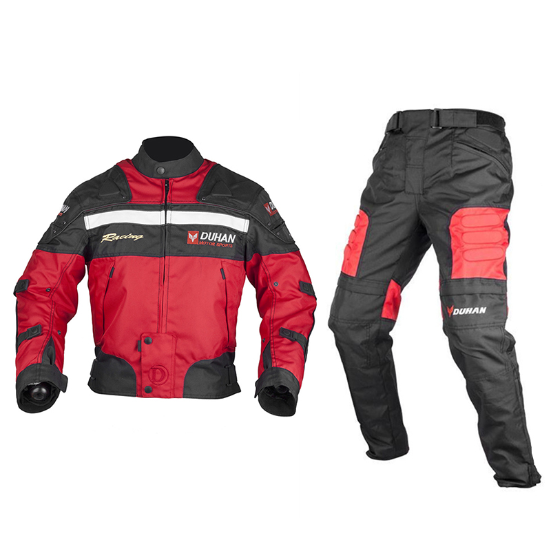 DUHAN Professional Motocross Off-Road Motorcycle Racing Jacket Pants Windproof Riding Body Protector Gear Rider Clothing Set<br><br>Aliexpress