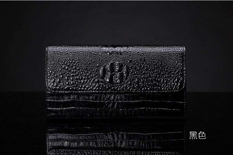 2015 the new trend of crocodile embossed leather wallets ladies fashion long cowhide wallet handbags wholesale(China (Mainland))