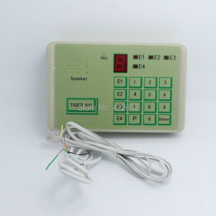 Automation dialer terminal use telephone line calling can recive NO/NC relay singnal or voltage(16V max) Tiger 911 Free Shipping(China (Mainland))
