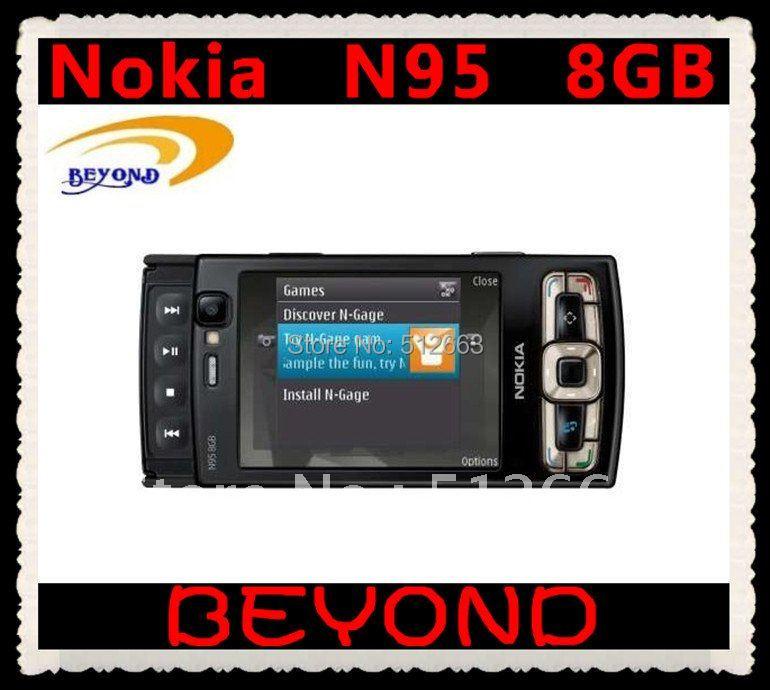 Nokia N95 8GB original unlocked 3G GSM mobile phone WIFI GPS 5MP 8GB internal storage(China (Mainland))