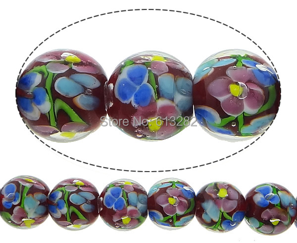 Free shipping!!!Handmade Lampwork Beads,One Direction, Round, 14mm, Hole:Approx 2mm, Length:10 Inch, 10Strands/Lot, Sold By Lot<br><br>Aliexpress