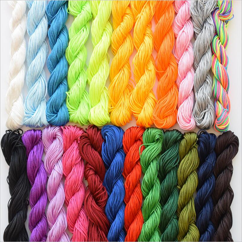 25M Shamballa Beads Bracelet Thread 1mm Polyester Cord Chinese Knot Macrame Rattail Cord For DIY Fashion Jewelry Findings Z471(China (Mainland))