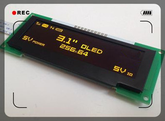 3.1 inch 10PIN Yellow OLED Module SSD1322 Drive IC 256*64 SPI Interface 5V(China (Mainland))